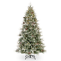 Home Accents Holiday 7.5 ft. Frosted Mountain Spruce Christmas Tree