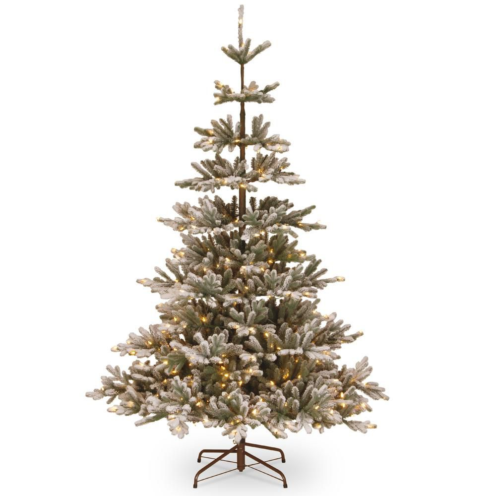 Home Accents Holiday 7.5 ft. Snowy Imperial Blue Spruce