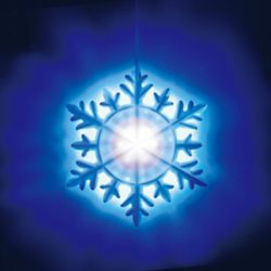 Illuminations 10.25 inch 54-Light Color Blast Projection Disk with Snowflake Cap