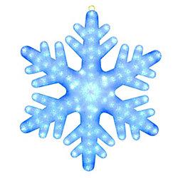 Illuminations 24 po. Flocons de neige géants RVB 84 lumières à DEL RVB télécommandés de couleur éclatante