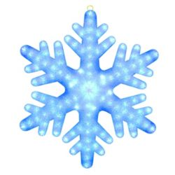 Illuminations 24 inch Color Blast Remote Controlled RGB LED 84-Light Giant Snowflake