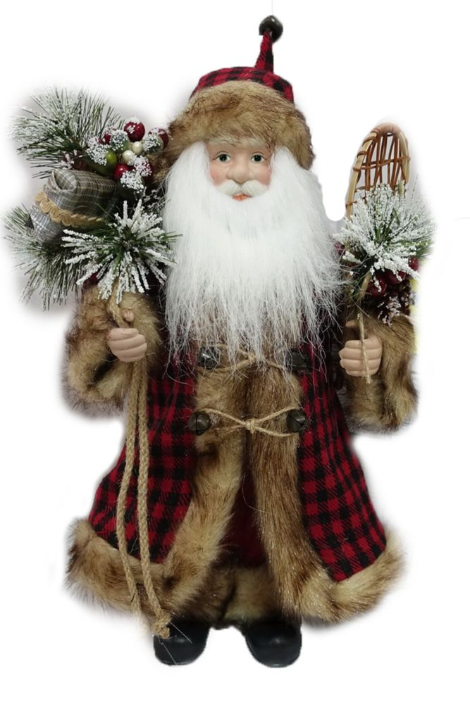 16-inch Standing Santa Figure Christmas Decoration