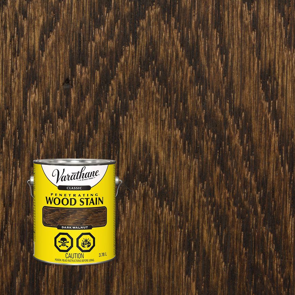 Varathane Classic Penetrating Wood Stain Dark Walnut 3.78L