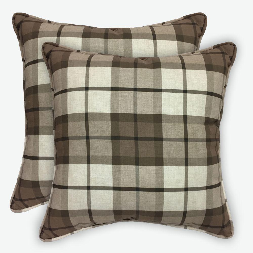 2pk Buffalo Plaid 17 inch Pillows