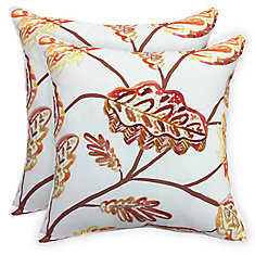 Harvest Leaves 17 inch Pillows (2-Pack)