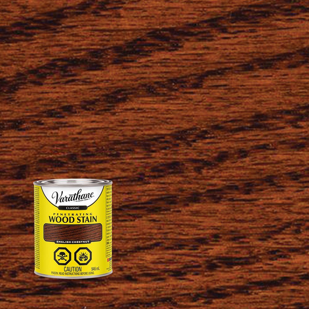 Varathane Classic Penetrating Wood Stain English Chestnut 946ml
