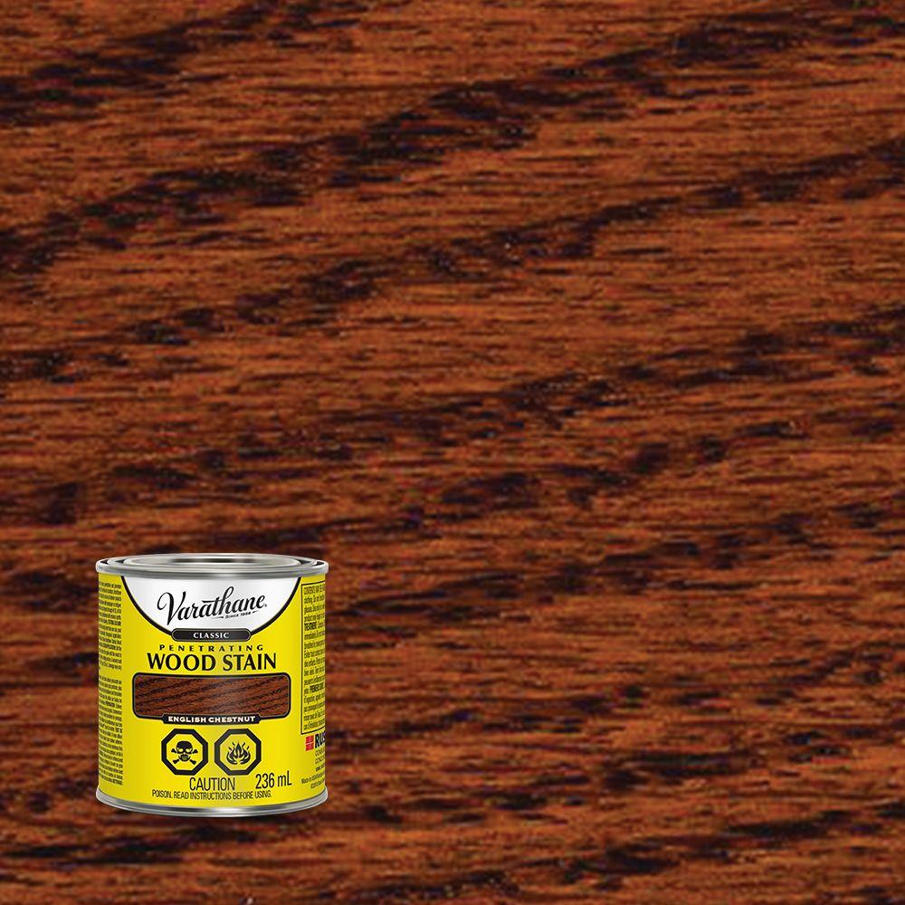 Varathane Classic Penetrating Wood Stain English Chestnut 236ml
