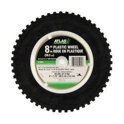 Atlas 8-inch X 1.75-inch Plastic Lawn Mower Wheel - Wide Geared Tread