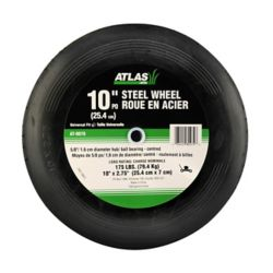 Atlas Replacement 10-inch X 2.75-inch Steel Lawn Mower Wheel With Centered Ball Bearings