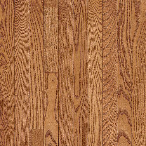 Bruce Plancher, bois massif, 3/4 po x 2 1/4 po x longueurs variées, Chêne cuivre pâle, 20 pi2/boîte