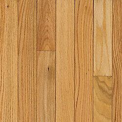Plancher AO, bois massif, 3/4 po x 5 po x longueurs variées, Chêne naturel, 23,5 pi2/boîte