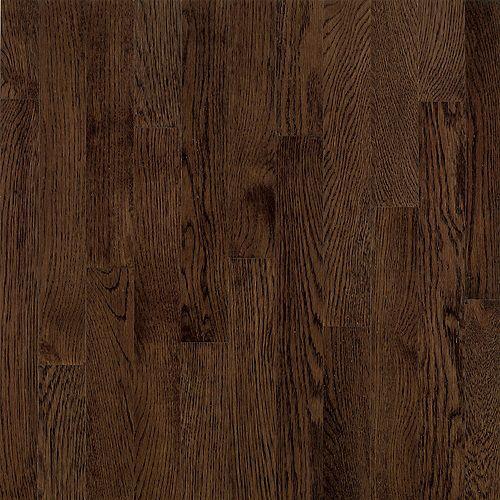 Bruce Plancher AO, bois d'ingénierie, 3/8 po x 5 po, Chêne Barista brun, 22 pi2/boîte