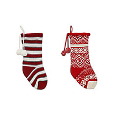 20 inch Knit Stocking Assortment - 2 Styles