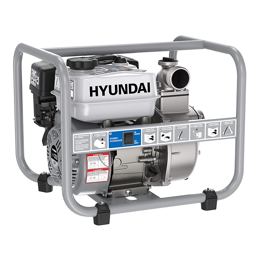 Hyundai HWP270 2 In Gas Powered 7 HP 212cc Water Pump