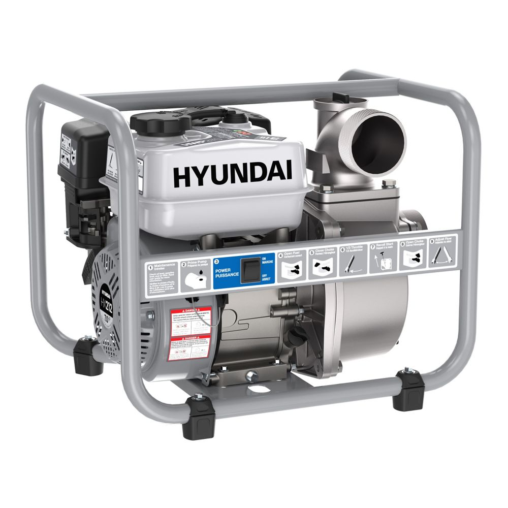 Hyundai HWP370 3in Gas Powered 7 HP 212cc Water Pump