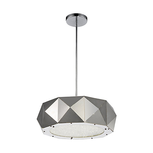 Rigelle 18 inch 6 Light Chandelier with Chrome Finish