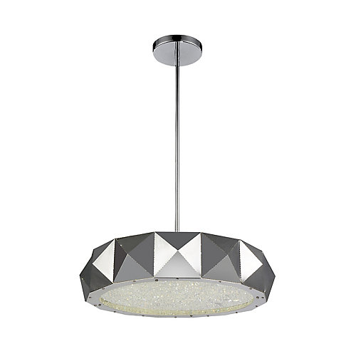 Rigelle 21 inch 8 Light Chandelier with Chrome Finish