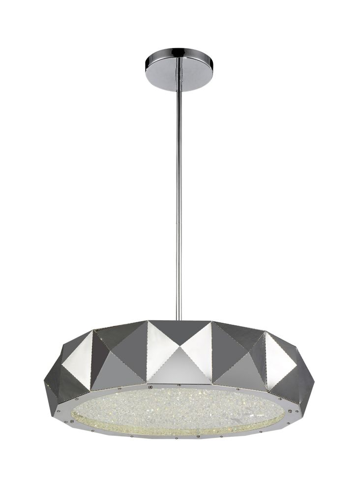 CWI Lighting Rigelle 21 inch 8 Light Chandelier with Chrome Finish