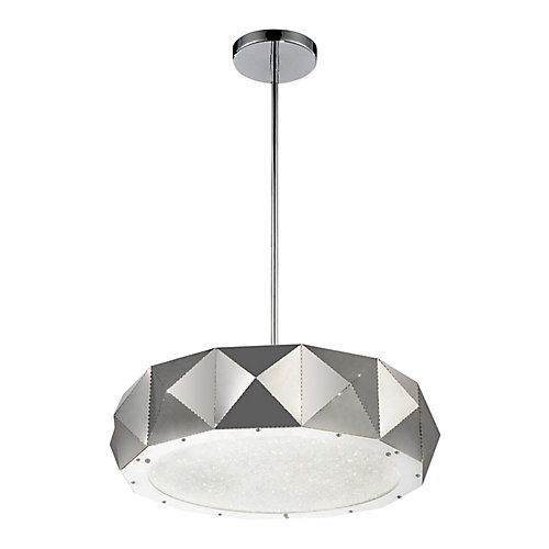 Rigelle 24 inch 10 Light Chandelier with Chrome Finish