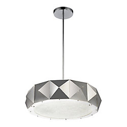 CWI Lighting Rigelle 24 inch 10 Light Chandelier with Chrome Finish