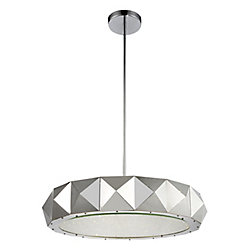 Rigelle 28 inch 12 Light Chandelier with Chrome Finish