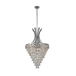 Chique 24 inch 13 Light Chandelier with Chrome Finish
