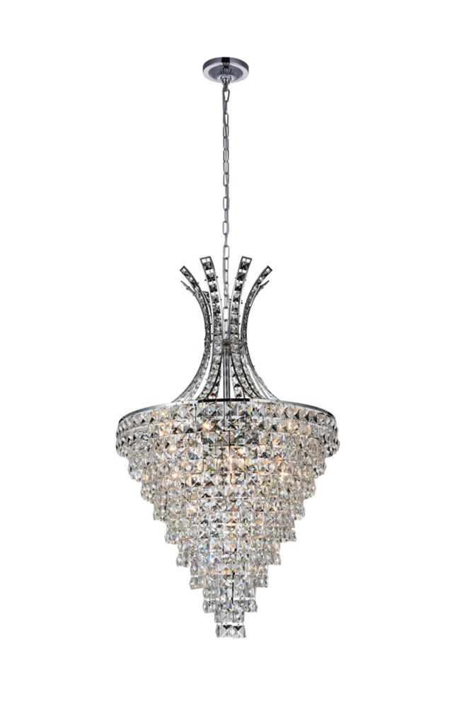 CWI Lighting Chique 24 inch 13 Light Chandelier with Chrome Finish