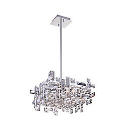 Arley 14 inch 6 Light Chandelier with Chrome Finish