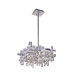 Arley 21 inch 8 Light Chandelier with Chrome Finish