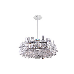 Arley 24 inch 12 Light Chandelier with Chrome Finish