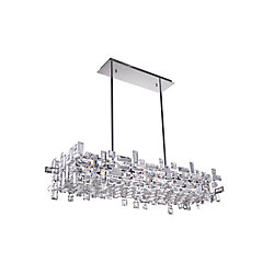Arley 35 inch 12 Light Chandelier with Chrome Finish