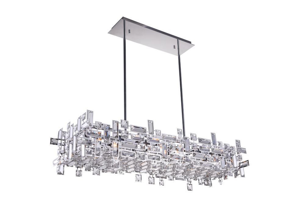 CWI Lighting Arley 35 inch 12 Light Chandelier with Chrome Finish