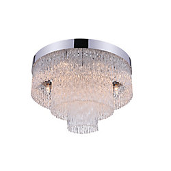 Carlotta 18 inch 6 Light Flush Mount with Chrome Finish