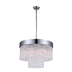 Carlotta 18 inch 6 Light Chandelier with Chrome Finish