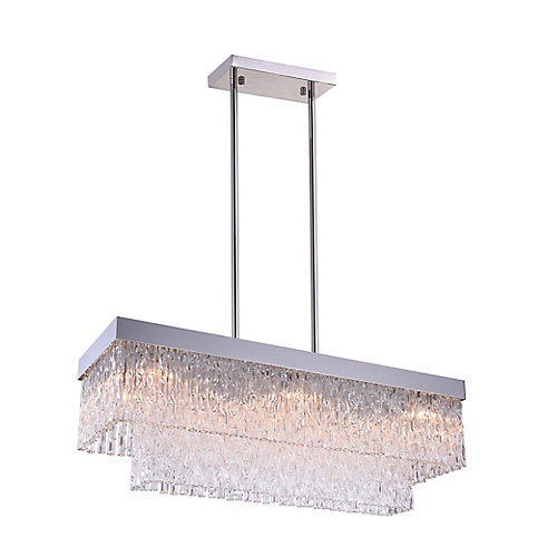 Carlotta 35 inch 8 Light Chandelier with Chrome Finish