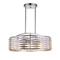 Squill 20 inch 8 Light Chandelier with Polished Nickel Finish