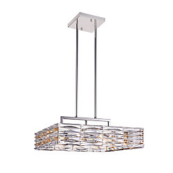 Squill 21 inch 8 Light Chandelier with Polished Nickel Finish