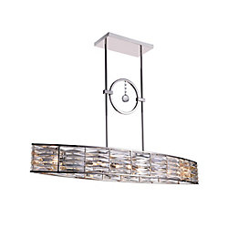 Squill 42 inch 6 Light Chandelier with Polished Nickel Finish