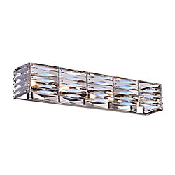 Squill 26 inch 4 Light Wall Sconce with Polished Nickel Finish