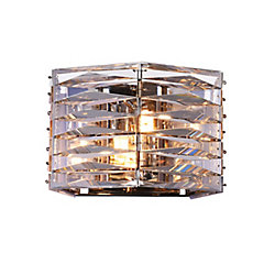 Squill 9 inch 2 Light Wall Sconce with Polished Nickel Finish