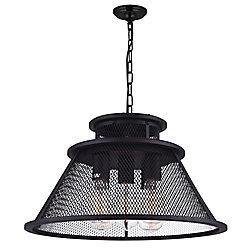 Savill 20 inch 5 Light Chandelier with Reddish Black Finish