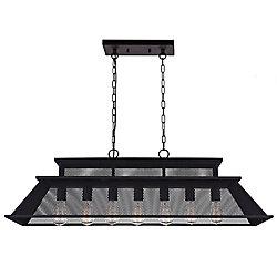 Savill 44 inch 7 Light Chandelier with Reddish Black Finish