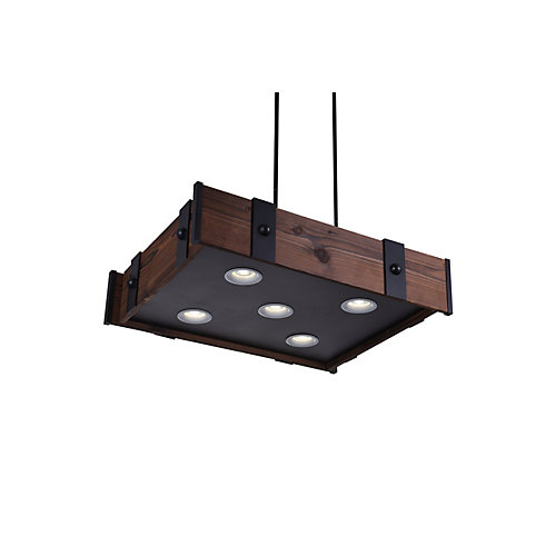 Pago 28 inch 5 Light Chandelier with Black Finish
