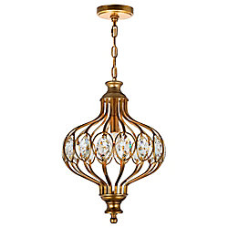 CWI Lighting Altair 12 inch 1 Light Chandelier with Antique Bronze Finish