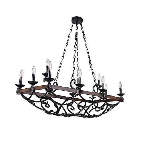Cwi lighting morden 43 inch 12 light chandelier with gun metal morden 43 inch 12 light chandelier with gun metal finish aloadofball Images