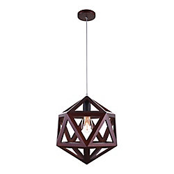 Lante 13 inch 1 Light Mini Pendant with Cherry Finish