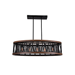 Parsh 43 inch 5 Light Chandelier with Pewter Finish