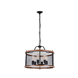Kayan 22 inch 6 Light Chandelier with Black Finish