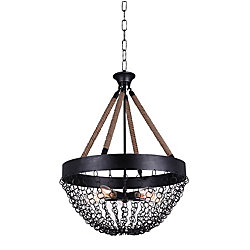 Mackenzie 24 inch 5 Light Chandelier with Antique Black Finish