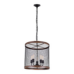 Torres 20 inch 5 Light Chandelier with Black Finish